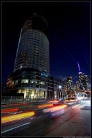 The Panorama Tower as seen from Lake Shore Blvd on the night of October 3rd. Photo by Andrew Alexander.